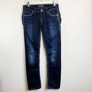 Silver Berkley Straight Leg Jeans Size 27X32